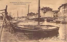 13 - MARTIGUES : Canal Saint Sébastien ( Bon Plan Barque En 1er Plan ) - CPA - Bouches Du Rhône - Martigues