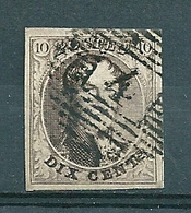 Nr 6 (gerand) Gestempeld P 4 ANVERS - Cote 10,00 - 1851-1857 Médaillons (6/8)