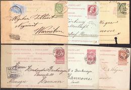 Postal History: Belgium 6 Postal Stationary Cards - Stamped Stationery