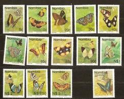 Namibia Namibie 1993 Yvertnr 707-719 Et 727 *** MNH Cote 93 FF Faune Papillons Vlinders Butterflies - Namibie (1990- ...)