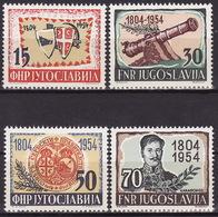 Yugoslavia 1954, 150th Anniversary Of First Serbian Uprising, MNH (**) Michel 751-754 - 1945-1992 République Fédérative Populaire De Yougoslavie