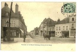 VENDOME  Le Grand Faubourg (Avenue De La Gare) Envoi 1904 - Vendome