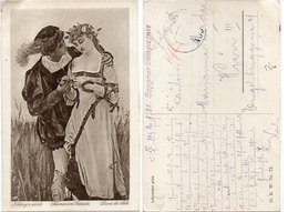 LEBOUCHER - Dans Les Blés - Couple Amoureux - Cachet Militaire    (110615) - Illustrateurs & Photographes