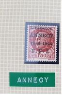 Timbre Libération Annecy 1f50 Bersier Cote Mayer 100€ - Libération