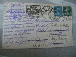 Daguin Dax Boue Thermale Eaux Salees Guerison Flamme Sur Lettre - Marcophilie (Lettres)