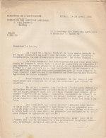 Services Agricoles D' Epinal , Vosges ,demande Une Liste Des Sociétés Agricoles , 1941,2 Pages - Documents