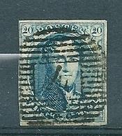 Nr 7 (gerand) Gestempeld P 4 ANVERS - Cote 10,00 - 1851-1857 Médaillons (6/8)