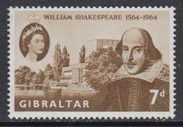 Gibraltar 1964 William Shakespeare 1v ** Mnh (41487W) - Gibraltar