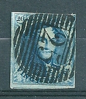 Nr 7 (gerand Met Buur) Gestempeld P 25 CHARLEROI - Cote 10,00 + COBA 2 Euro - 1851-1857 Médaillons (6/8)