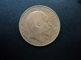 ROYAUME UNI : 1 PENNY  1907    KM 794.2     TTB - 1902-1971 : Monnaies Post-Victoriennes