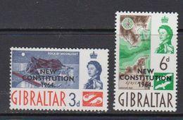 Gibraltar 1964 New Constitution 2v ** Mnh (41487X) - Gibraltar