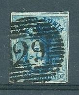 Nr 7 (gerand Met Buur) Gestempeld P 29 COURTRAI - Cote 10,00 + COBA 2 Euro - 1851-1857 Médaillons (6/8)