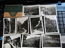 7ogg) EXCURSION GORGES DU LOUP ET GOURDON 20 PHOTOS GILETTA 9 X 6,5 Cm CON FOLDER - Gourdon
