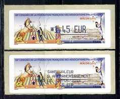 """LISA 1  1,45e TARIF LETTRE  """" PHILA FRANCE MACON 2015 """" Championnat  France  Philatélie Avec RECU  ** - 2010-... Vignettes Illustrées"""