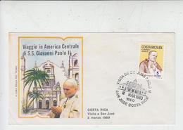 COSTARICA  1983  -FDC -  Visita Papa - Religione - Costa Rica
