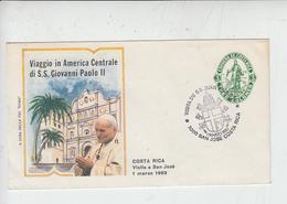 COSTARICA  1983  - Intero Postale -  Visita Papa - Religione - Costa Rica