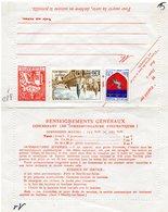 CHAMPLAIN ENTIER POSTAL CARTE LETTRE  CARTE PNEUMATIQUE TELEGRAPHE 1.60 F - Neumáticos