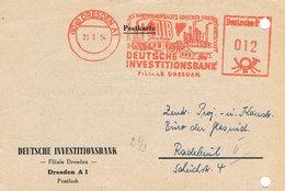 DDR - Freistempel 1954 Deutsche Investitionsbank Dresden - Wirtschaft, Economy  - Meterstamp - [6] Repubblica Democratica