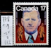 Canada - Kanada 1981 Y&T N°778 - Michel N°810 Nsg - 17c Aaron Mosher - Ungebraucht