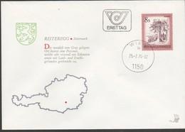 """Österreich 1976 ET/FDC -Merkurbrief """"Reiteregg/Steiermark"""" - FDC"""