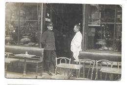 """A LOCALISER.. Carte Postale Photo CAFE, RESTAURANT """" The Criterion""""...Photo Incroyable , Av De Clichy à PARIS..2 Scans - Cartes Postales"""