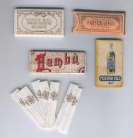 Quatre Carnets De Papiers à Cigarettes Et Tubes  - Four Cigarette Rolling Papers And Tubes - Objets Publicitaires