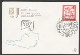 """Österreich 1976 ET/FDC -Merkurbrief """"Enns/Oberösterreich"""" - FDC"""