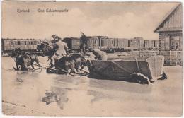 Latvia Kurland, Eine Schlammpartie, Horse Horses Military Soldier Soldiers - Lettonie