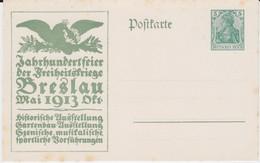 DR Germania Ganzsache P 94 II/03 Jahrhundertfeier Freiheitskriege Breslau 1913 Ungebr R - Deutschland