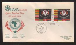 8110- Ghana , Scott 46-47 FDC - Ghana (1957-...)