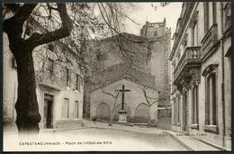 Capestang - Place De L'Hôtel-de-Ville - Edit. Bertrand, Tabacs - Voir 2 Scans - Capestang
