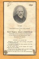 IMAGE GENEALOGIE FAIRE PART  DECES CARTE MORTUAIRE SARTHE LA FLECHE  D ABOVILLE   1848 1941 - Obituary Notices
