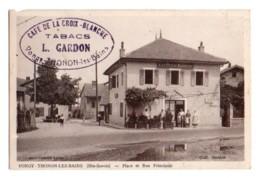 (74) 871, Thonon Les Bains, Coll Gardon, Vongy, Place Et Rue Principale, Café De La Croix Blanche Gardon, état - Thonon-les-Bains