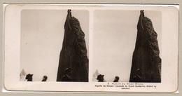 """0707 """"2 MASSIF DU MONT BLANC-AIGUILLE DU GREPON- ESCALADE DU GRAND GENDARME-DEBOUT AU SOMMET"""" 1906  STEREOSC. ORIG - Cartes Stéréoscopiques"""