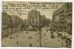 CPA - Carte Postale - Belgique - Bruxelles - Place De Brouckère - 1921 (SV6643) - Marktpleinen, Pleinen