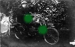 MOTO FN 4 CYLINDRES Vers 1905 Construite à HERSTAL Carte Photo RARE - Motos