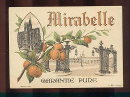 Etiquette  D'eau De Vie  -  Mirabelle Garantie Pure  - - Etiquettes