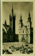 CZECH REPUBLIC - KLATOVY - MIROVE NAMESTI - VINTAGE POSTCARD 1950s (BG1812) - Tchéquie