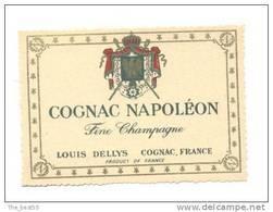 Etiquette De  Cognac Fine Champagne Napoléon  -  Dellys - Etiquettes