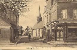 -depts Div.-ref-AE770- Eure - Thiberville - Rue De Lisieux - Cafe De La Place - Cafes - Carte Bon Etat - - Sonstige Gemeinden