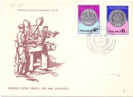 MONEY PRESS POLAND 3 PIECES FDC COLLECTION WARSZAWA   (DICE180088) - FDC