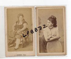 Lot De 2 Photos Anciennes - Format CDV - Vers 1880 - FEMMES - MAISON CLOSE Probable -  EROTIQUE - Anciennes (Av. 1900)