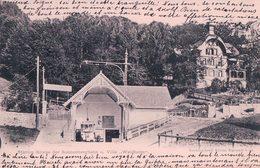 Kriens, Station Der Sonnenbergbahn Und Villa Waldheim, Chemin De Fer Et Funiculaire (5.4.1904) - LU Lucerne
