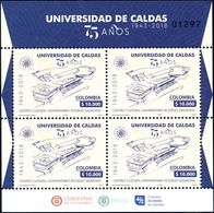 O) 2018 COLOMBIA, UNIVERSITY CULTURAL CENTER ROGELIO CARMONA -CENTRAL FIGURE COLOMBIAN ARCHITECTURE. SHEET MNH - Colombia