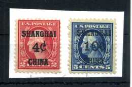 1919 China Cina Occ. Stati Uniti USA Yv.2/5 * - Cina