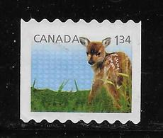 CANADA 2013, USED # 2609, BABY WILDLIFE   FAWN, USED - Carnets