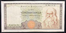 50000 LIRE Leonardo Da Vinci 19 07 1970  LOTTO 305 - 50000 Lire