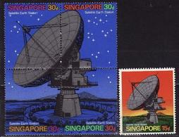 Singapore, 1971, Satellite Stations, 5 Stamps 72 Euro - Ruimtevaart