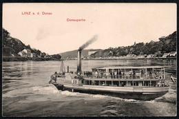 C0455 - Dampfer Babenberg - Donauschifffahrt Schaufelraddampfer - Linz - Hermann Seibt Meissen - Dampfer