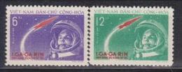 Vietnam, Y.Gagarin, 1961, 2 Stamps - Space